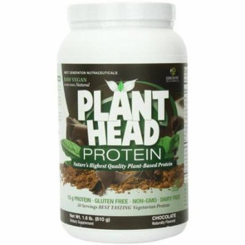 Genceutic Naturals Plant Head Protein Dietary Supplement, Chocolate, 1.7 LB
