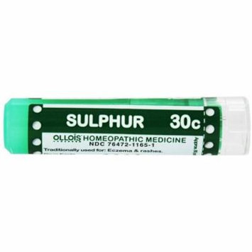 Ollois Homeopathic Medicines, Sulphur 30C Pellets, 80 CT (Pack of 2)