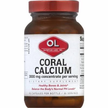 Olympian Labs Coral Calcium, 3000 mg Concentrate, Capsules, 90 CT