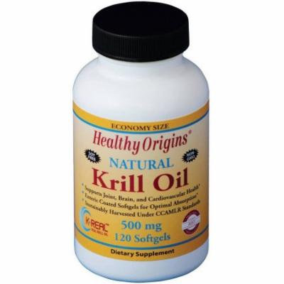 Healthy Origins Krill Oil, Natural, 500mg, 120 CT