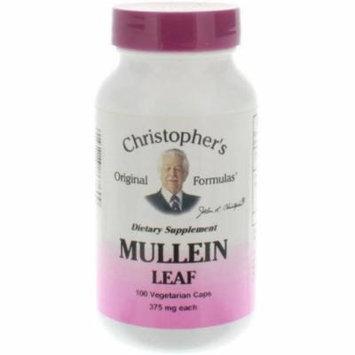 Christopher's Original Formulas Mullein Leaves Vegetarian Capsules, 100 CT