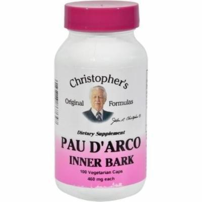 Christopher's Original Formulas Pau Darco Vegetarian Capsules, 100 CT