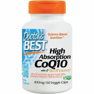 Doctor's Best High Absorption CoQ10 400mg, 60 CT