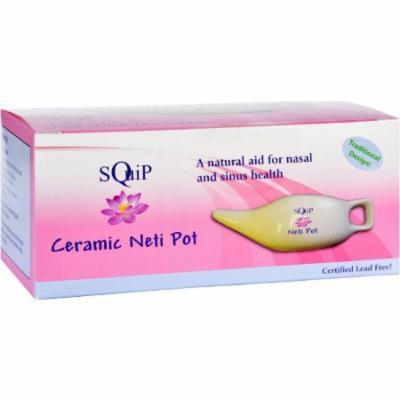 Squip Ceramic Neti Pot, 13.3 OZ