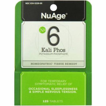 Hylands #6 Kali Potassium Phosphate Tablets, 125 CT (Pack of 2)