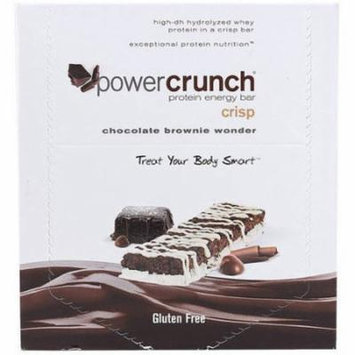Power Crunch Protein Bar, Chocolate Brownie Wonder Crisp, 41 GM (Pack of 12)