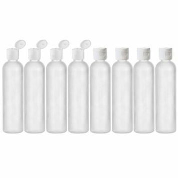 Moyo Natural Labs 8 OZ HDPE Commerical Grade Empty Squeezable Containers BPA Free Made in USA hdpe reusable bottles Pack of 8
