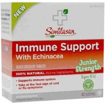Similasan Immune Support Echinacea Junior Strength Tablets, 40 CT