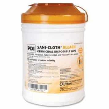 Surface Disinfectant Cleaner Sani-Cloth Bleach Chlorine Scent Wipe 75 Count Manual Pull Canister