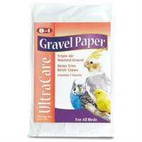 8 In 1 Pet Products United Pet Bird Cages Gravel Paper 9 1/2 X 15 12Pk