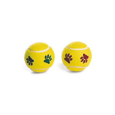 Ethical Dog Ethical Pet - Spot Pawprint Dog Tennis Balls - 2 Pack