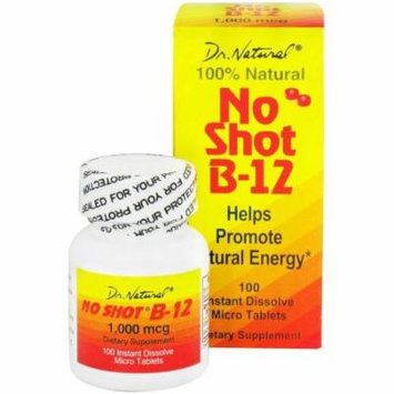 World Organics No Shot B-12 Sublingual Tablets, 100 CT