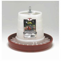 Miller Hanging Poultry Feeder White Red 11 Pound - PHF11