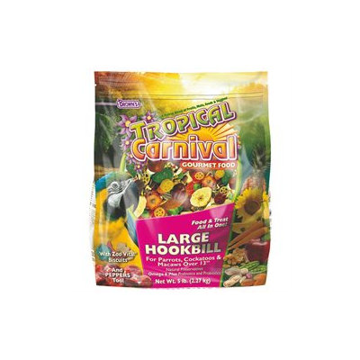 F.M. Browns Pet Bird Tropical Carnival Large Hookbill Food 5 Lb