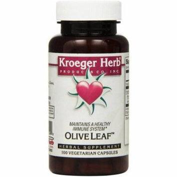 Kroeger Herb Olive Leaf, Vegetarian Capsules, 100 CT