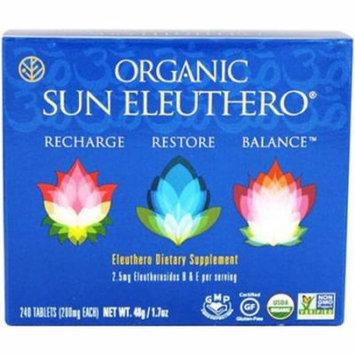 Sun Chlorella Sun Eleuthero, Organic (Recharge, Restore, Balance), 240 CT