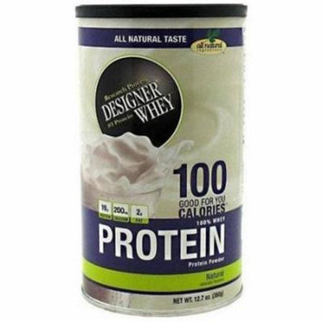 Designer Whey Protein Powder, Plain & Simple, 12 OZ