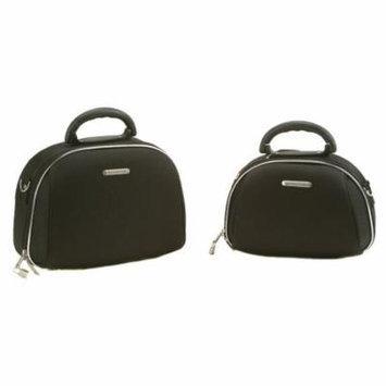 Rockland Luca Vergani 2-Piece Cosmetic Case Set - Black