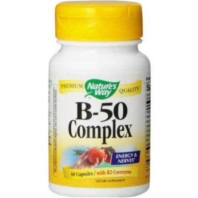 Nature's Way Vitamin B-50 Complex, Capsules, 60 CT (Pack of 2)