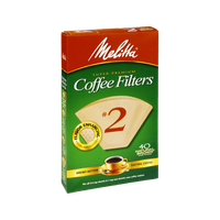 Melitta Super Premium #2 Natural Brown Coffee Filters - 40 CT