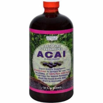 Only Natural 100% Pure Standardized Acai Liquid, 32 FL OZ