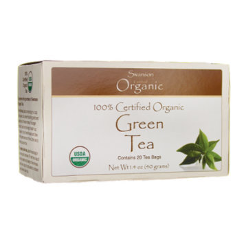 Swanson 100% Certified Organic Green Tea 20 Bag(S)