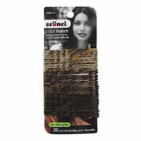 Scunci Color Match 36 pk Curved Bobby Pins Brunette