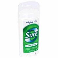 Sure Original Solid Anti-Perspirant & Deodorant Unscented 2.7 oz. (Pack of 6)