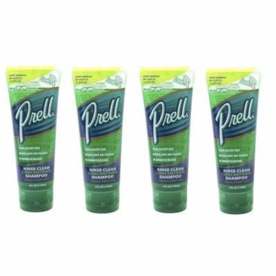 Prell Hair Rinse Clean Concentrate Shampoo - 4 oz (Pack of 4)