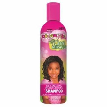 African Pride Dream Kids Olive Miracle Detangling Shampoo 12 oz. (Pack of 2)