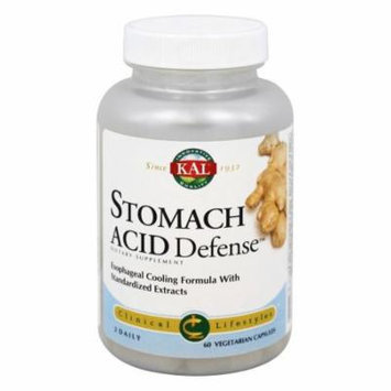 Kal - Clinical Lifestyles Stomach Acid Defense - 60 Vegetarian Capsules