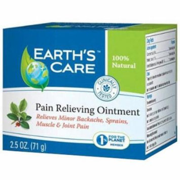 Earth's Care Pain Relieving Ointment, for Backache, Sprairs, Muscle & Joint Pain, 2.5 OZ