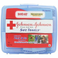 Pack of 6 Johnson & Johnson Red Cross Portable Travel First Aid Kit 70 Pieces Plastic Case Each