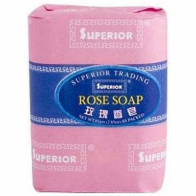 Superior Trading Rose Soap Bar, 2.85 OZ (Pack of 6)