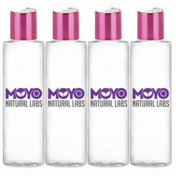 MoYo Natural Labs 3.4 oz Shimmering Pink Disc Cap Empty Travel bottle Squeezable BPA Free Travel Bottle Set Made in USA