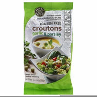 NATURAL NECTAR CROUTONS GARLIC & PARSLY GLUTENFREE, 2.06 OZ (Pack of 8)