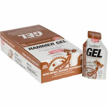 Hammer Gel: Peanut Butter Chocolate, 24 Single Serving Packets