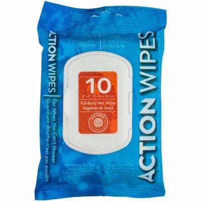 Action Wipes Full-Body Wet Wipes, 10 count