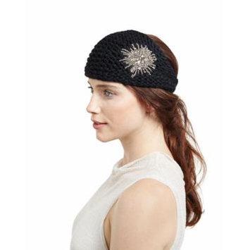 Jennifer Behr Embellished Wool Starburst Headband, Black