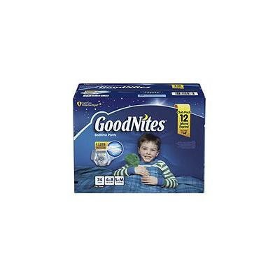 GoodNites Bedtime Underwear for Boys, S/M (74 ct.)