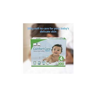 Member's Mark Comfort Care Baby Diapers, Size 4 (22 - 37 lbs) 200 ct.