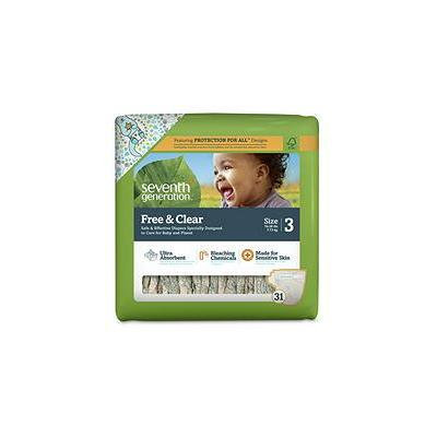 Seventh Generation Free & Clear Baby Diapers - Stage 3 (31 ct.)