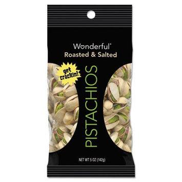 Paramount Farms Inc. Paramount Farms Wonderful Pistachios, Dry Roasted & Salted, 5 oz, 8/Box