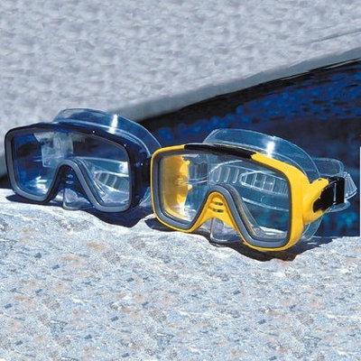 Poolmaster Adult Mondeo Pro Swim Mask - Assorted Blue/ Yellow