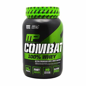 Muscle Pharm Combat 100% Whey Protein Powder, Strawberry, 2 Pound