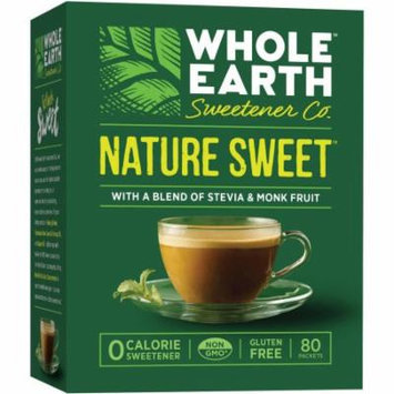 Whole Earth Sweetener Co. Nature Sweet Zero Calorie Sweetener, 80 count