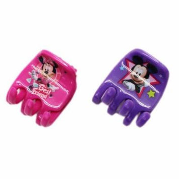 Disney's Minnie and Mickey Mouse Purple and Pink Colored Hair Clips (2 pc)
