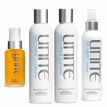 Unite 7Seconds Shampoo & Conditioner 8 oz Duo & United Leave in Detangler 8 oz & Unite Argan Oil 3.3 Oz