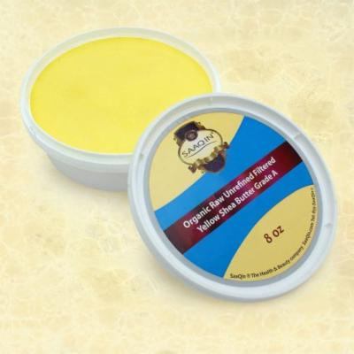 African Shea Butter Cream (100% Pure & Raw, Gold) 8 Oz By SaaQin