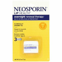 3 Pack Neosporin Lip Health Overnight Renewal Therapy 0.27 oz Each